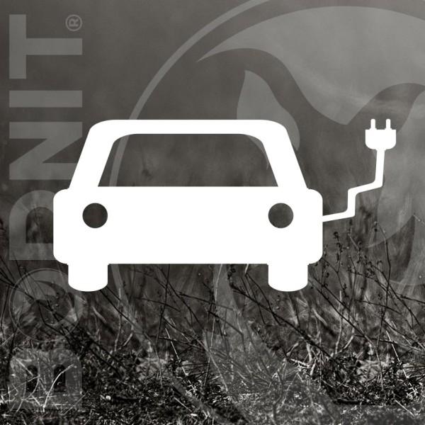 Parkplatzmarkierung Elektroauto aus Thermoplastik