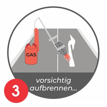 Anleitung Aufbrennen Parkplatznmarkierung E-Auto Bild 3