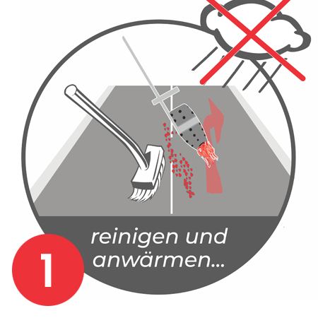 Anleitung Aufbrennen Parkplatznmarkierung E-Auto Bild 1